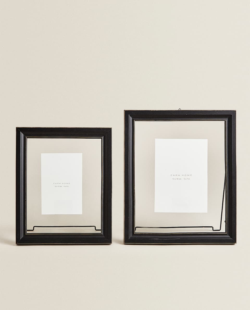 WOOD AND GLASS FRAME