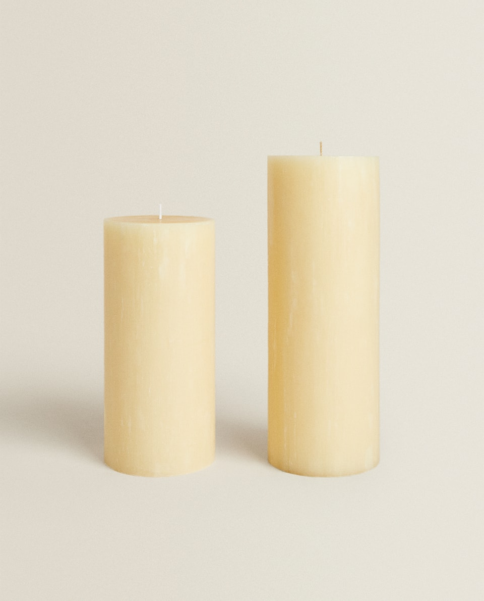 LONG CYLINDRICAL CANDLE