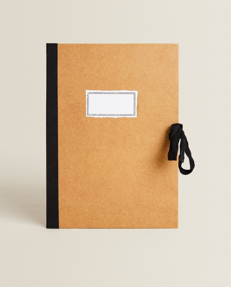 NOTEBOOK WITH CARDBOARD COVER