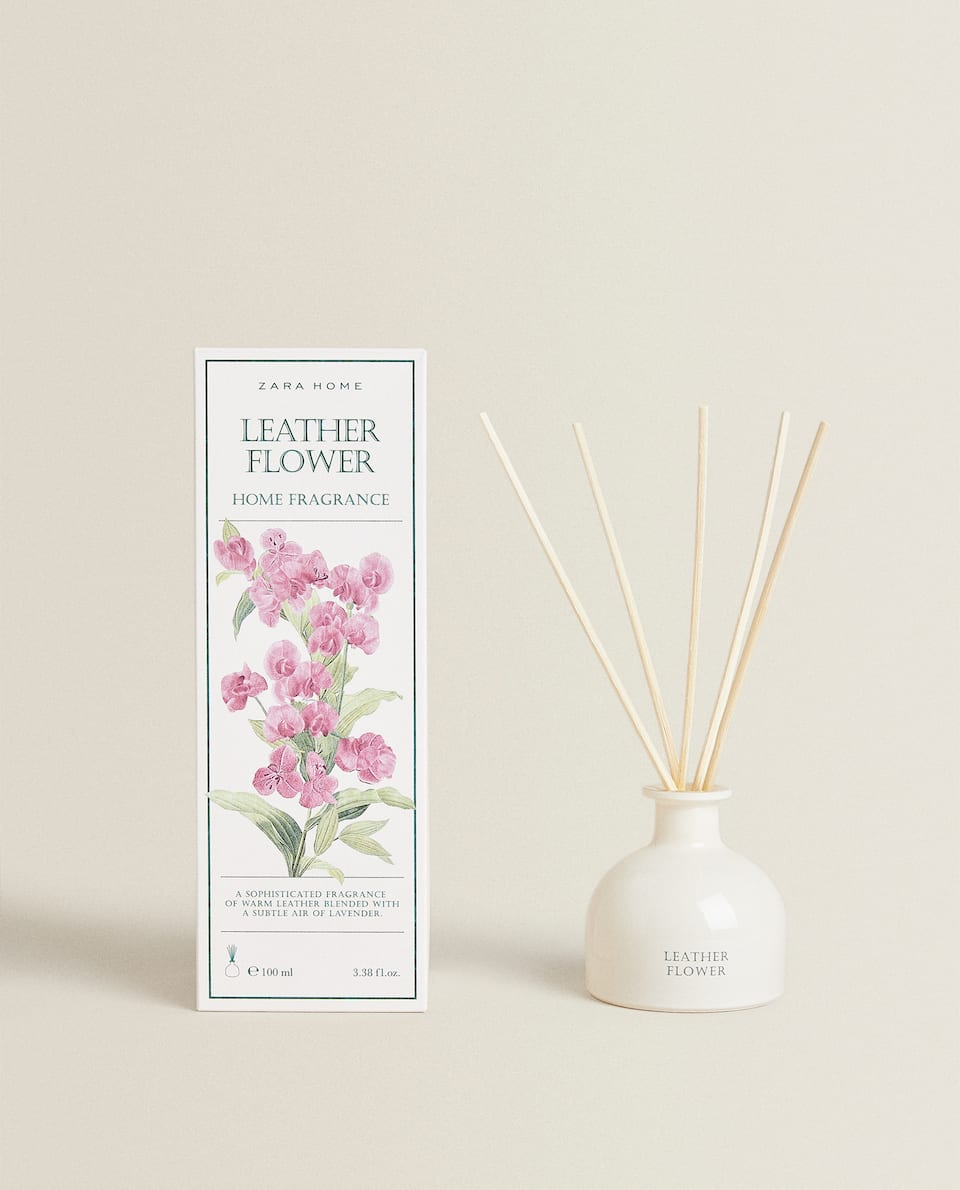 (100 ML) LEATHER FLOWER REED DIFFUSER