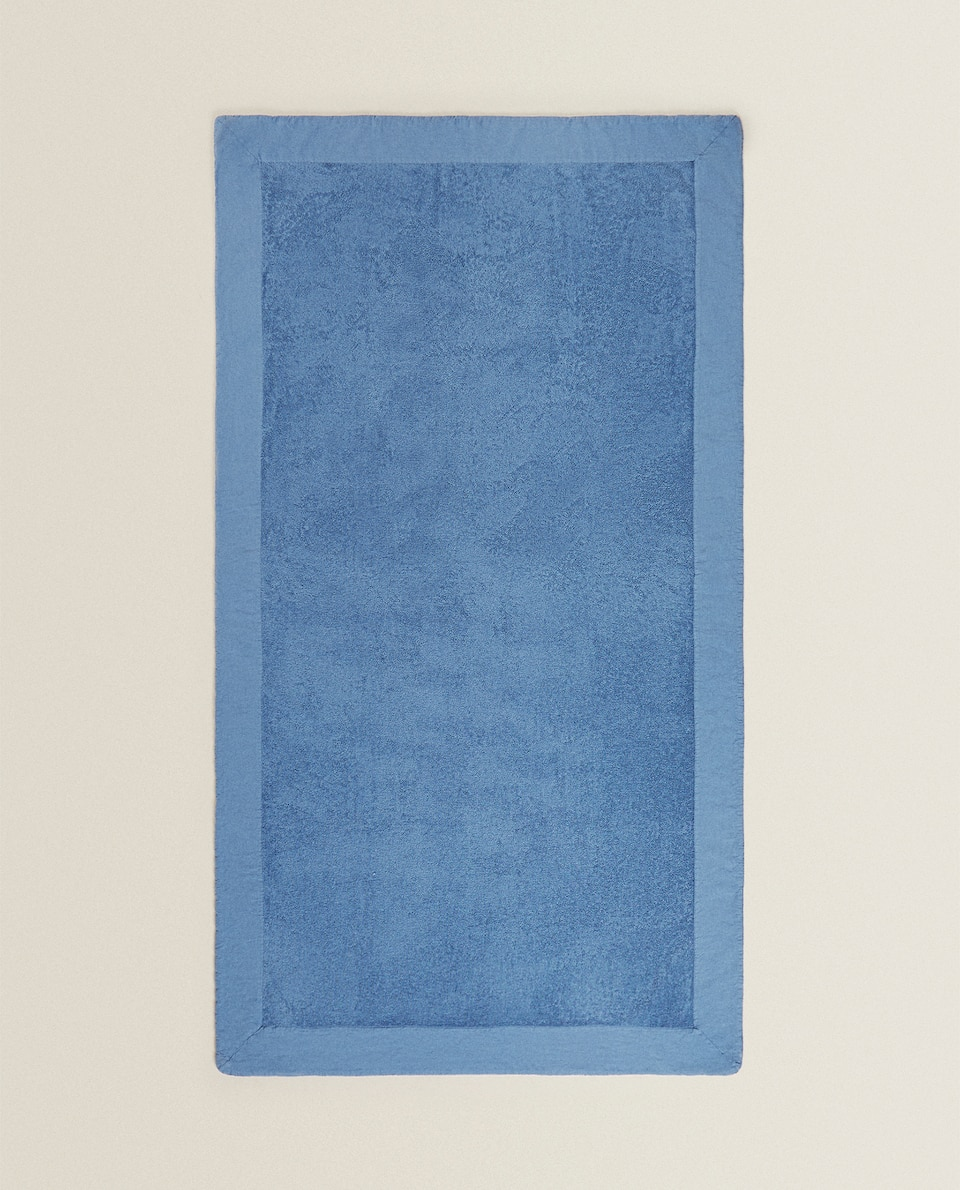 WASHED LINEN BEACH TOWEL