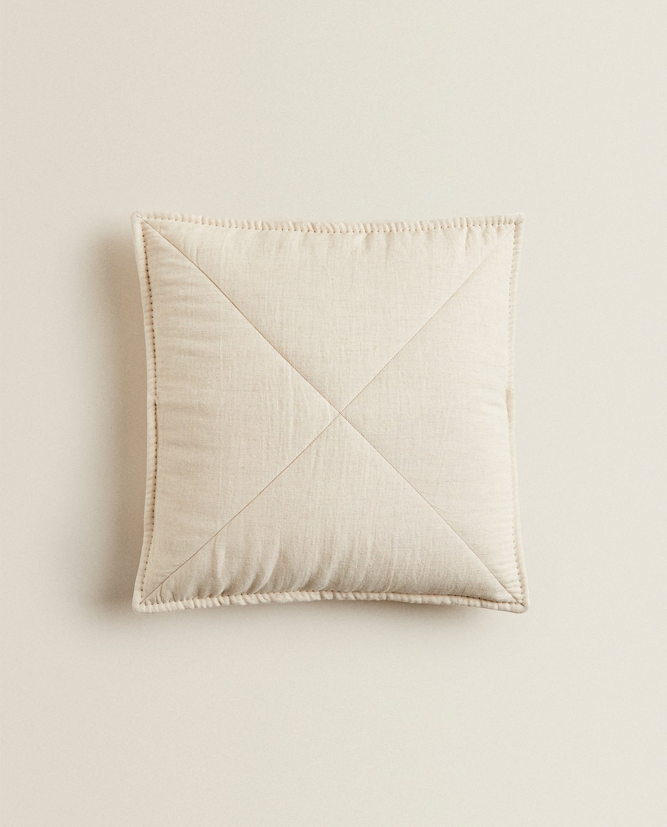 LINEN AND MUSLIN CUSHION COVER