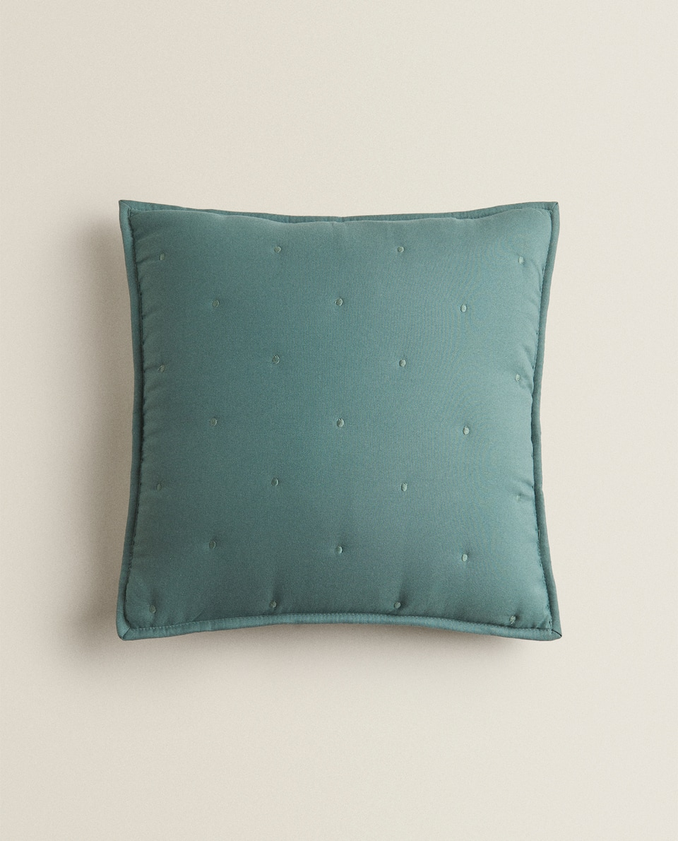 REVERSIBLE QUILTED CUSHION COVER