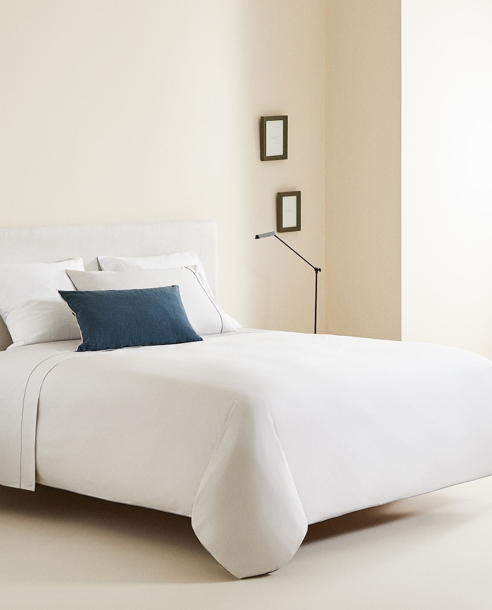 DUVET COVER WITH CONTRASTING PIPING