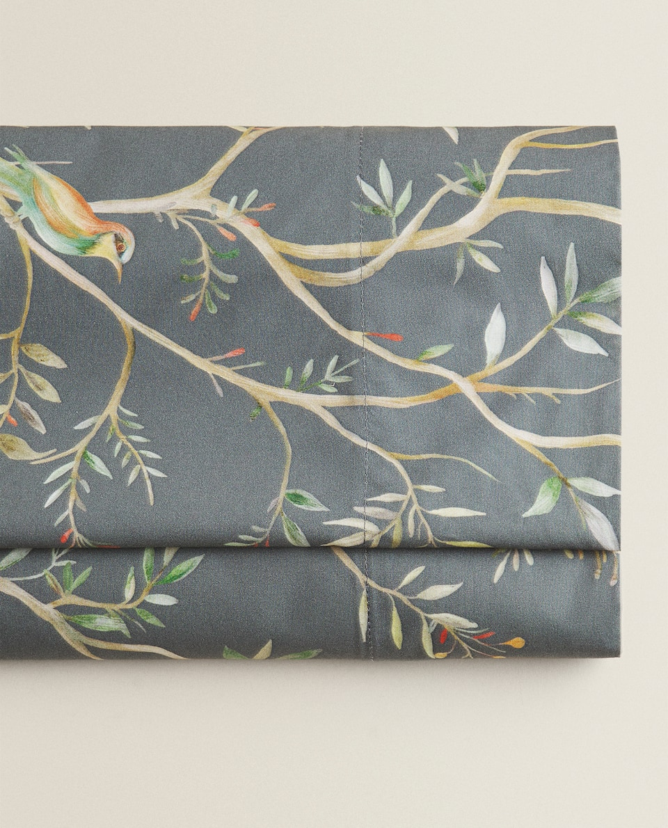 BIRDS AND BRANCHES FLAT SHEET