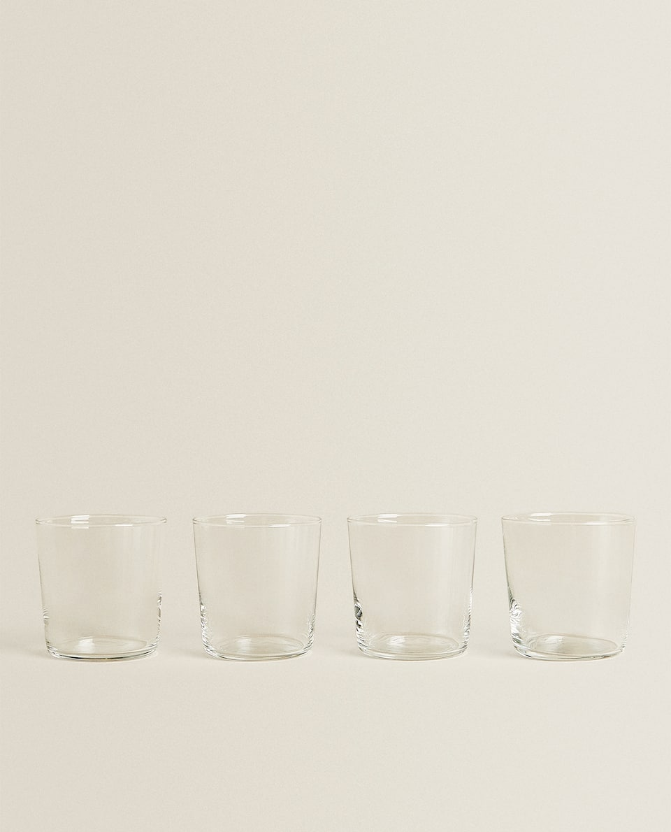 4-PACK SOFT DRINK GLASS TUMBLERS