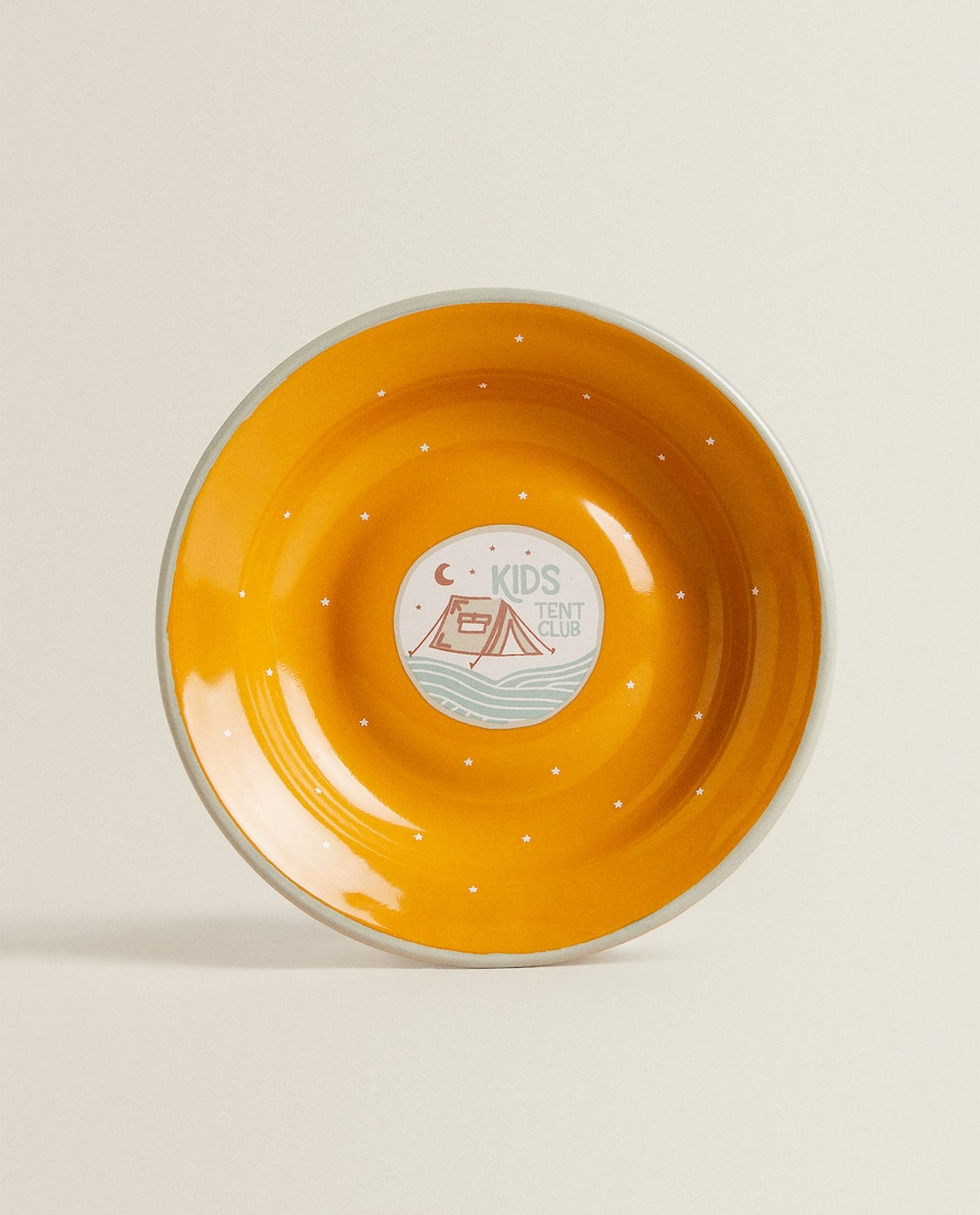 ENAMELLED CAMPING PLATE
