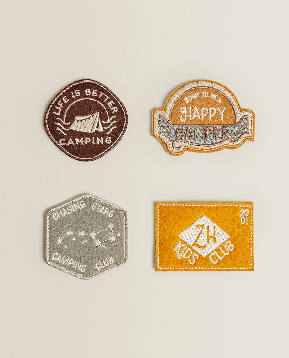 4-PACK OF FELT EXPLORER PATCHES