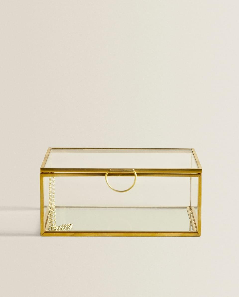 GLASS BOX WITH METAL FRAME
