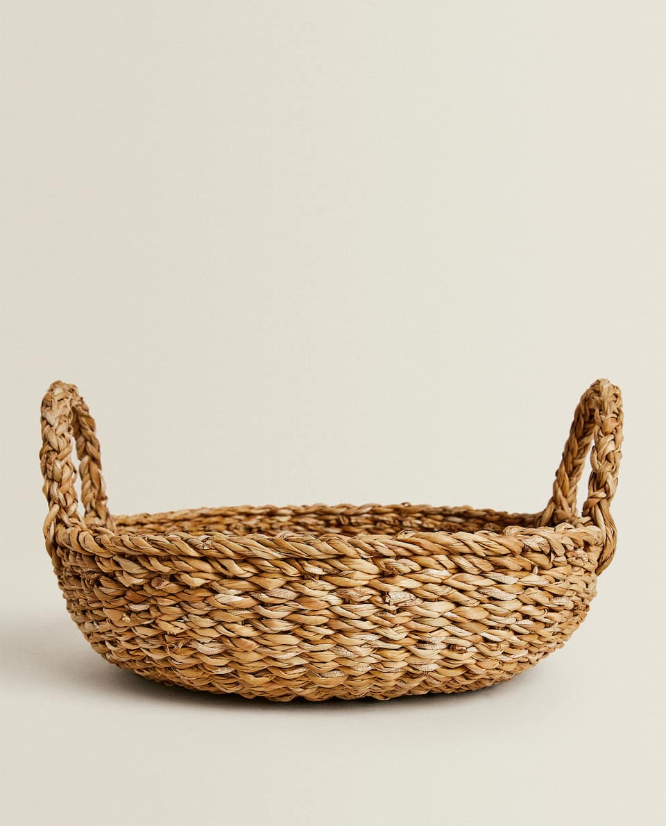 PLAITED FRUIT BASKET WITH HANDLES