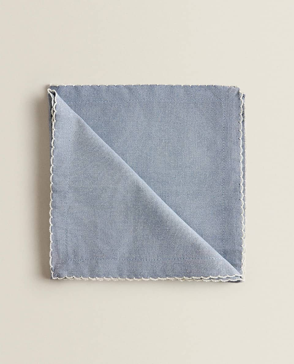 NAPKINS WITH SCALLOPED EDGE (PACK OF 2)