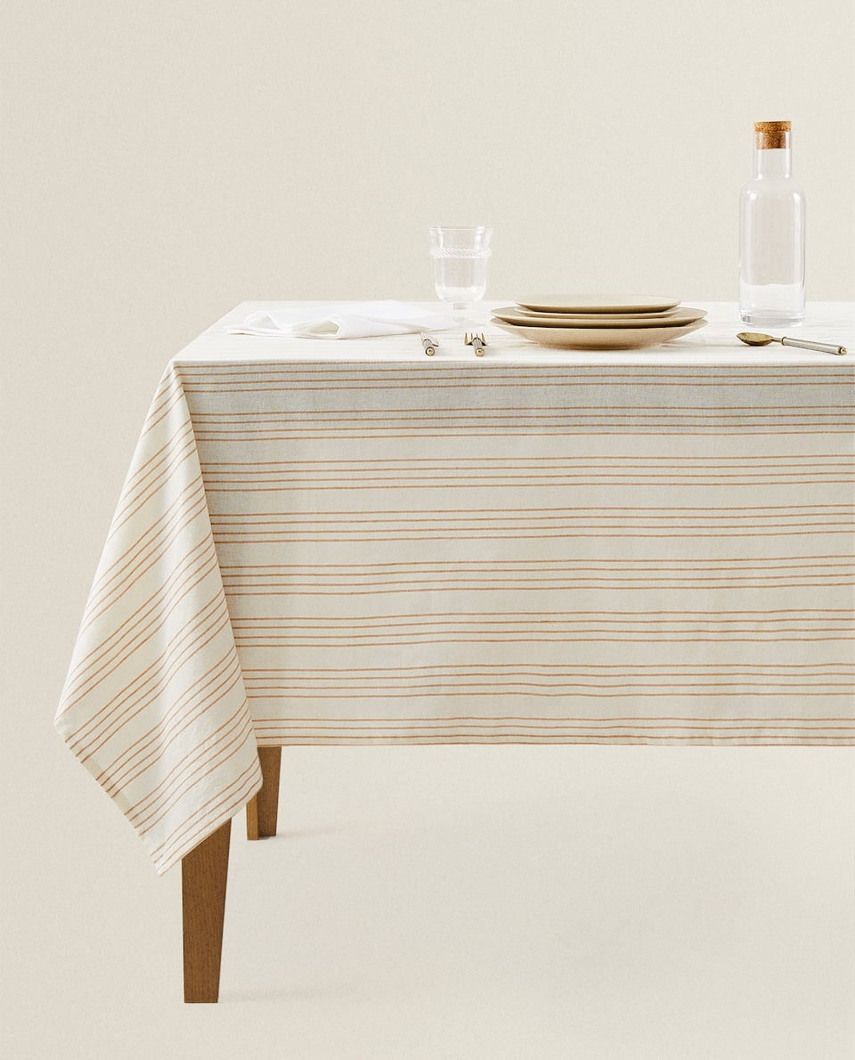 STRIPED TABLECLOTH