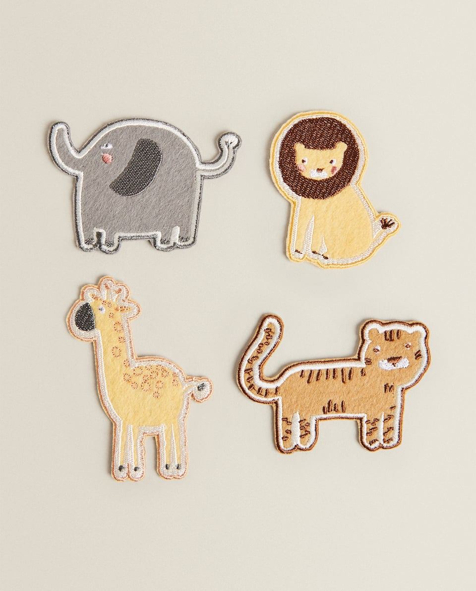 4-PACK OF ANIMAL FELT PATCHES