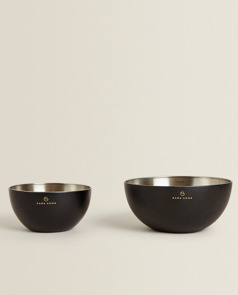 ZARA HOME BY CÉDRIC GROLET STAINLESS STEEL MIXING BOWL