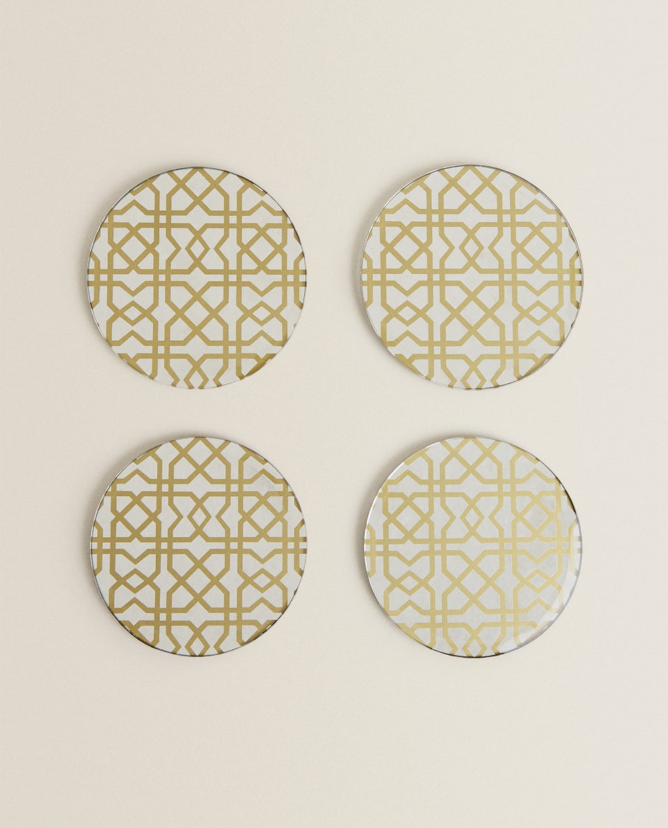 ROUND GLASS COASTERS (PACK OF 4)