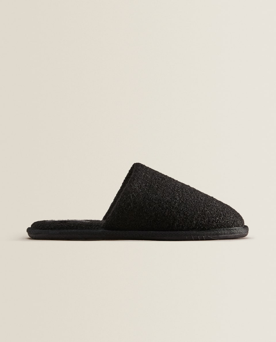 Fabric mule slippers