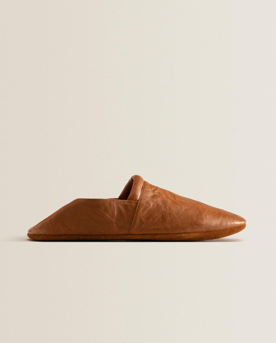 Deri babuş ayakkabı
