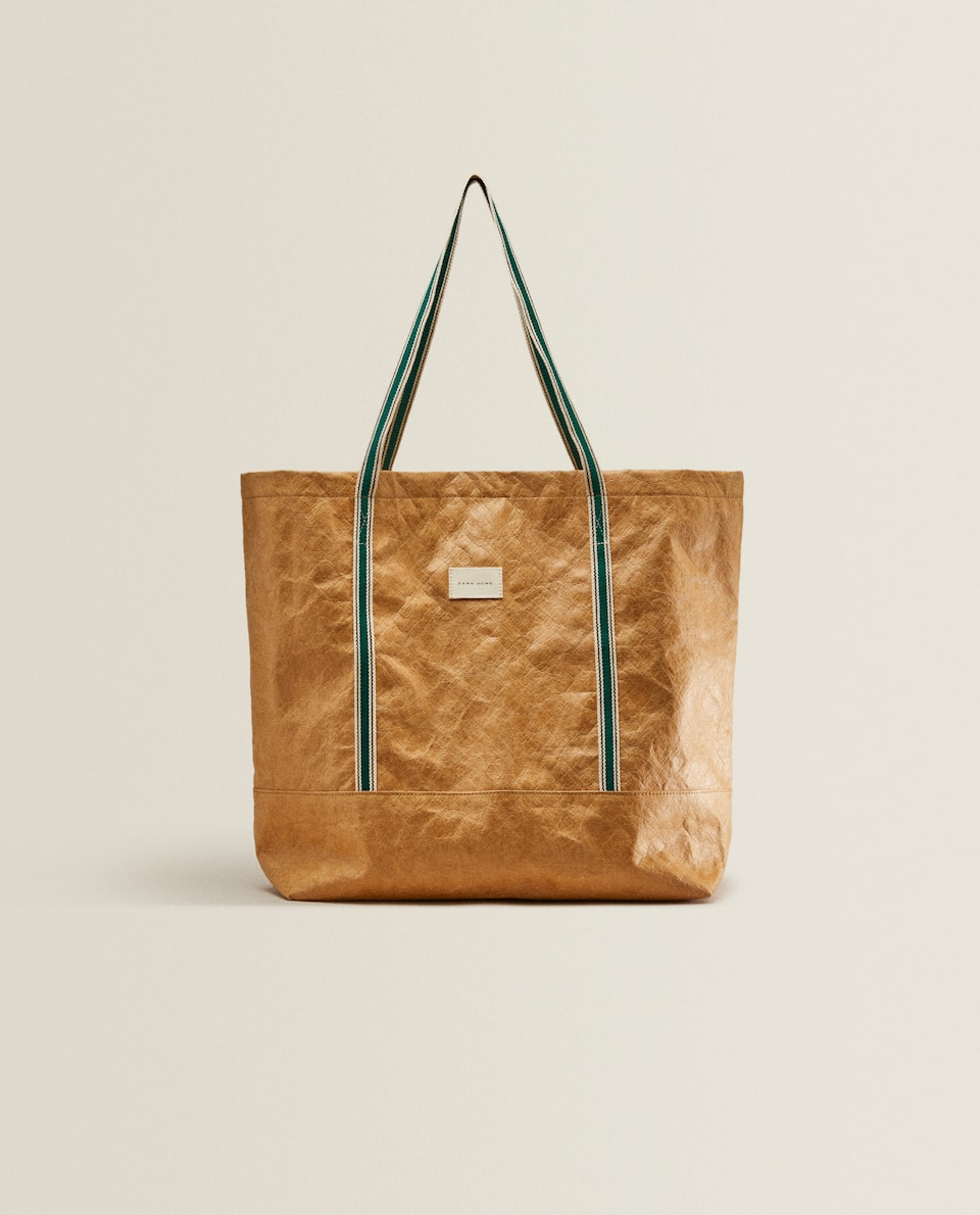 PAPER-EFFECT TOTE BAG