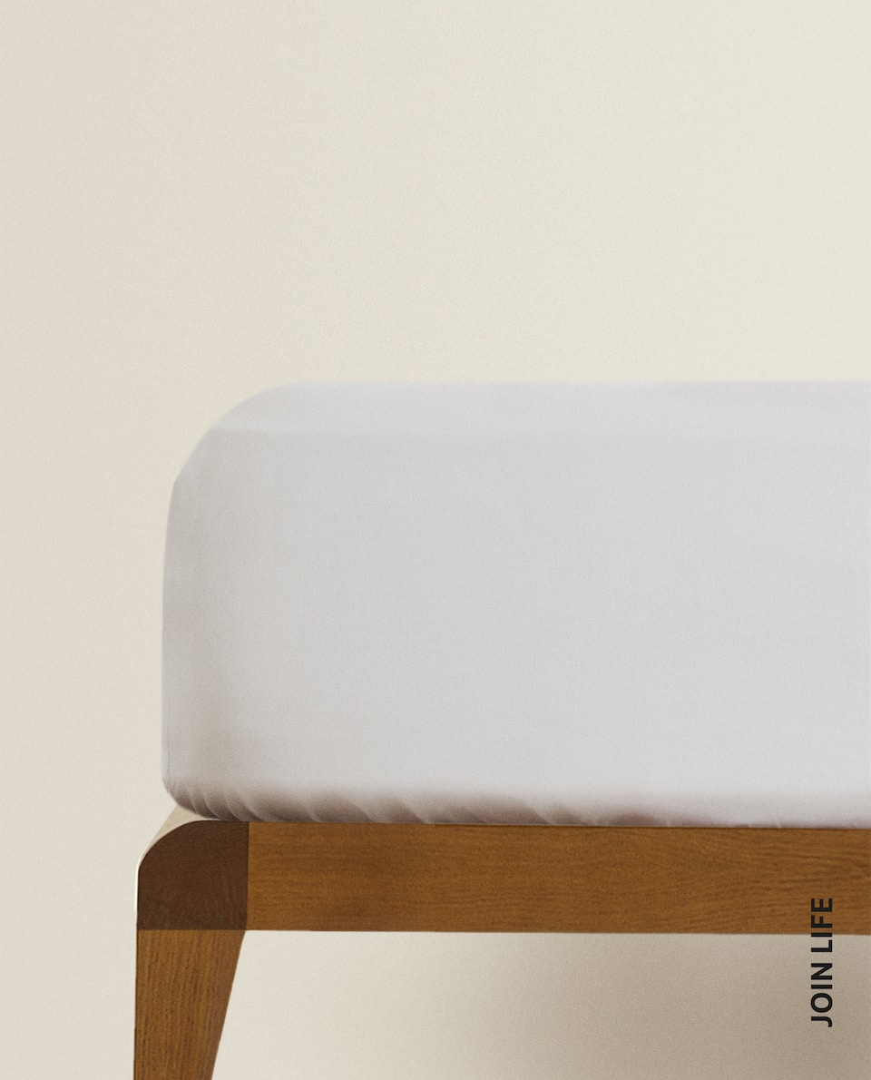 (180 THREAD COUNT) COTTON PERCALE FITTED SHEET