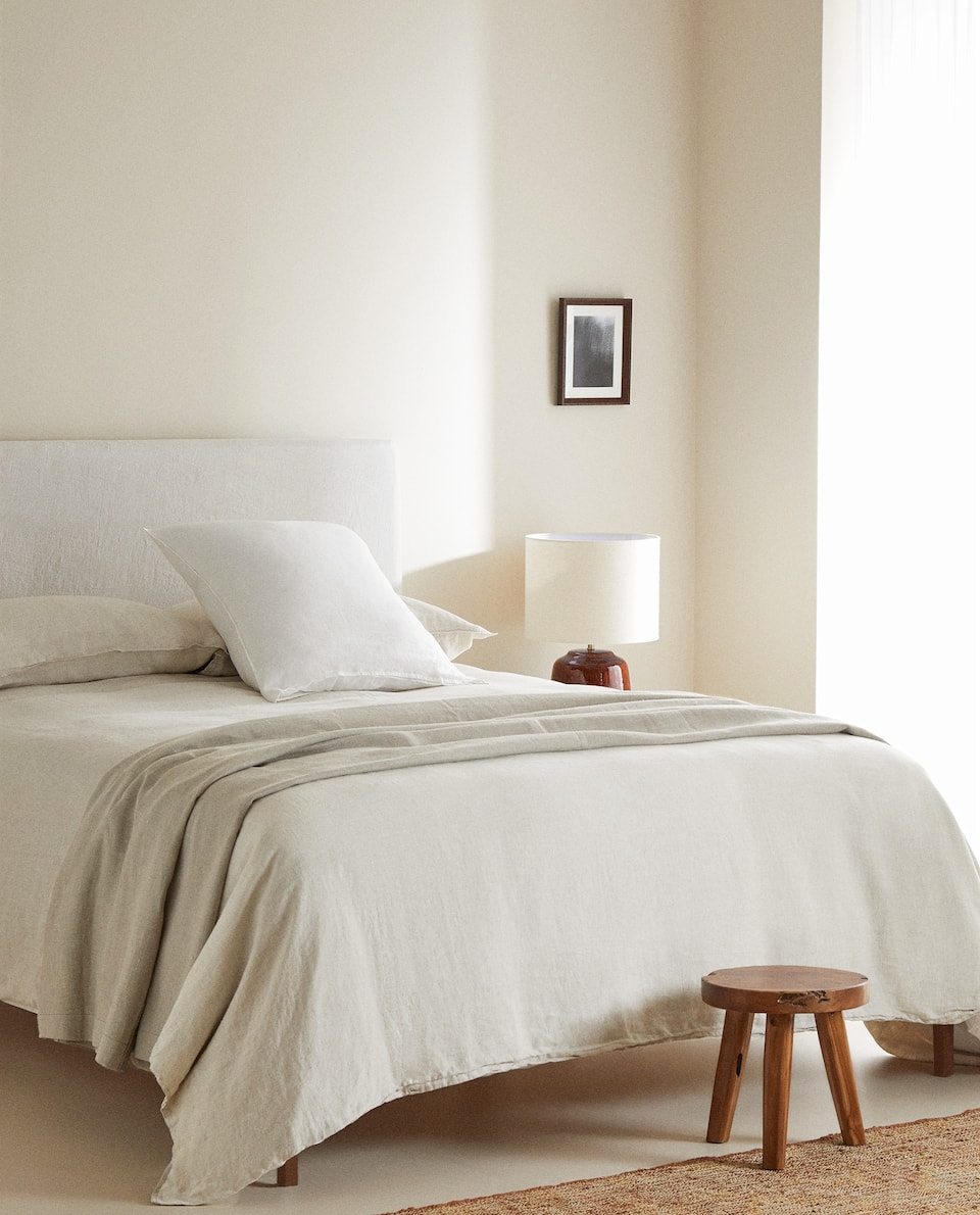 (160 GSM) WASHED LINEN DUVET COVER