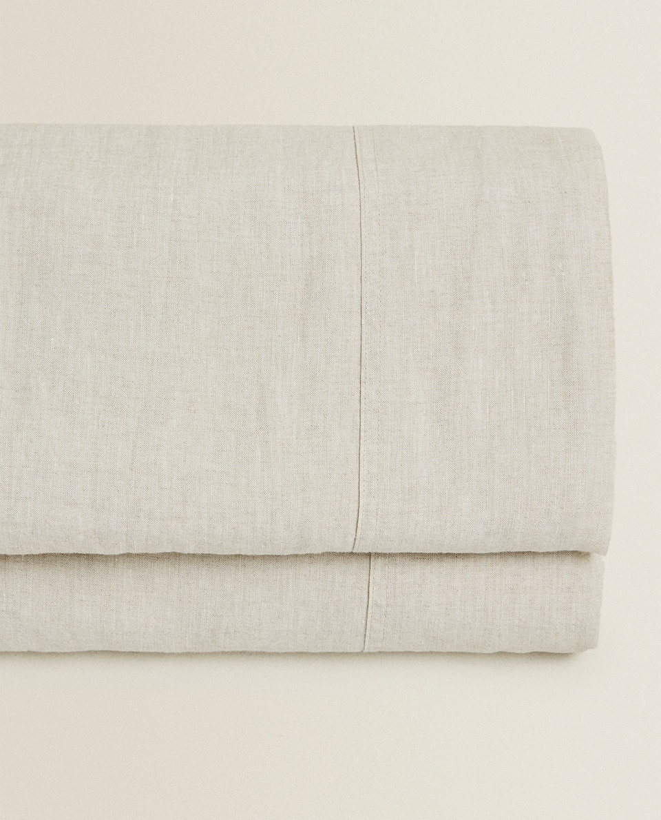 WASHED LINEN FLAT SHEET