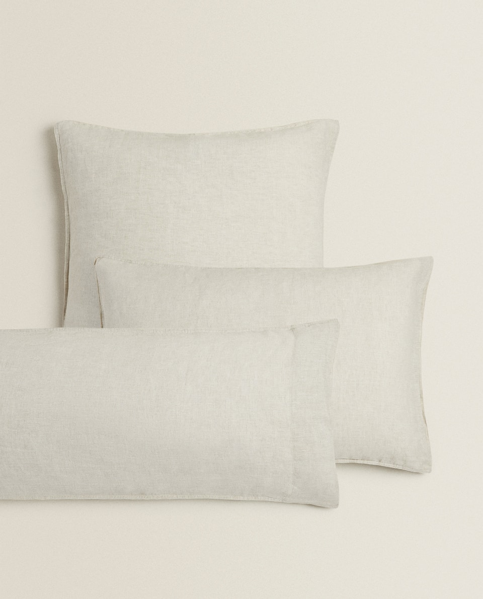 (160 GSM) WASHED LINEN PILLOWCASE