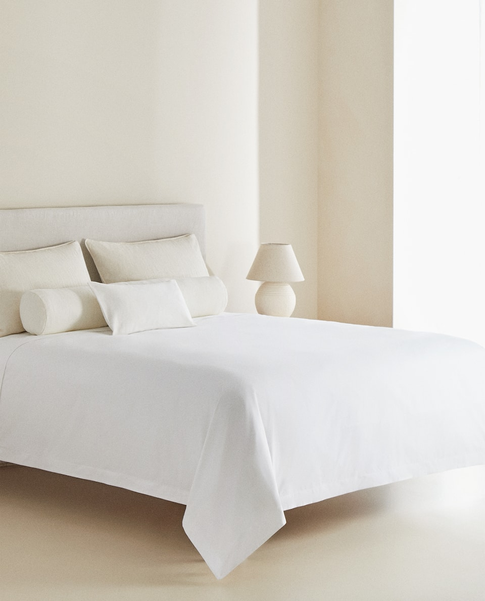(500 THREAD COUNT) COTTON PERCALE DUVET COVER