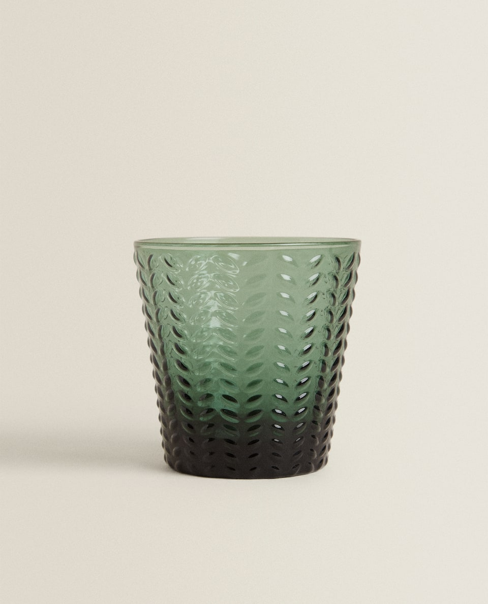 HERRINGBONE GLASS TUMBLER
