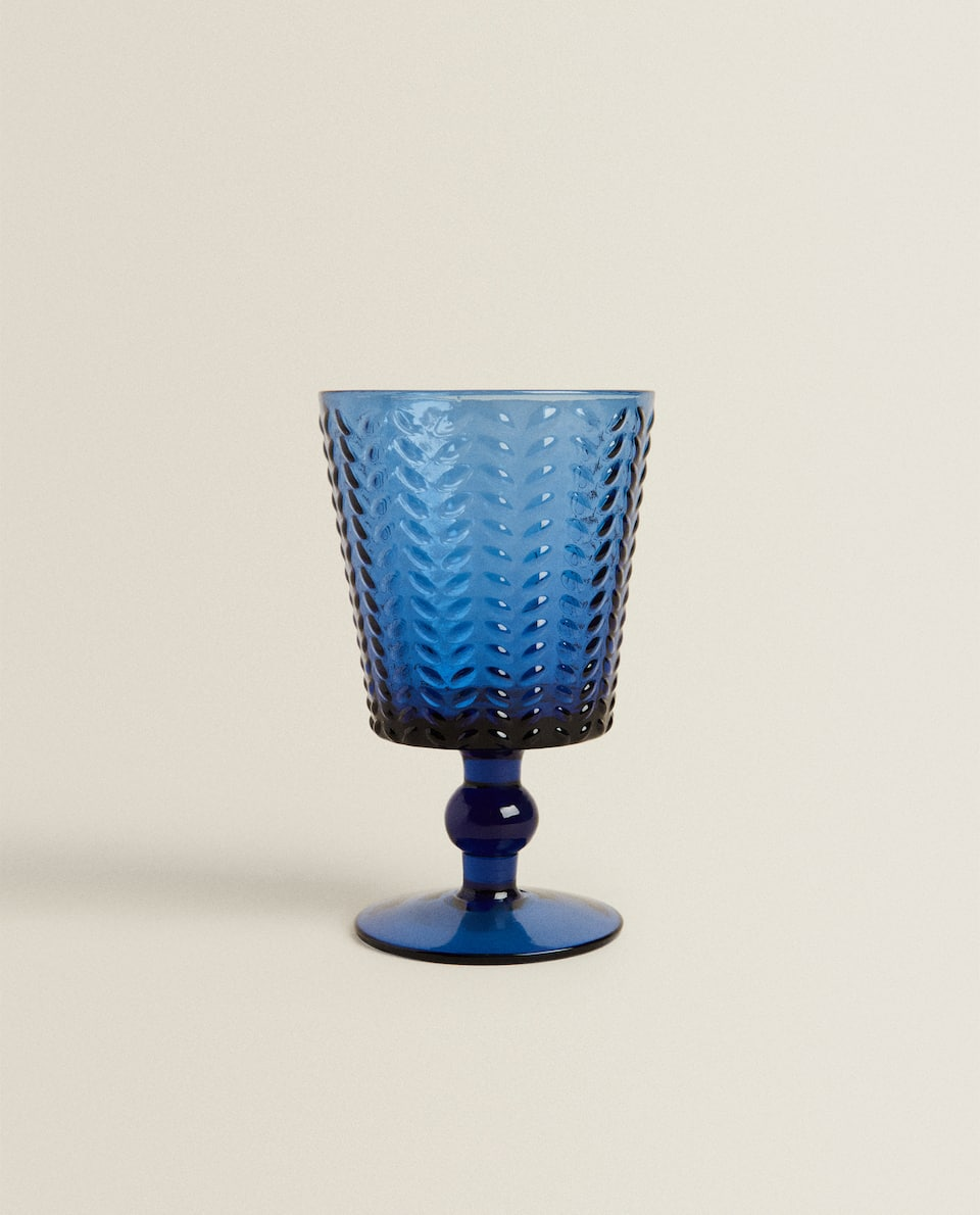HERRINGBONE WINE GLASS