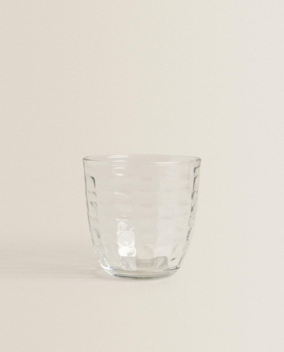 RAISED SQUARE-DESIGN TUMBLER