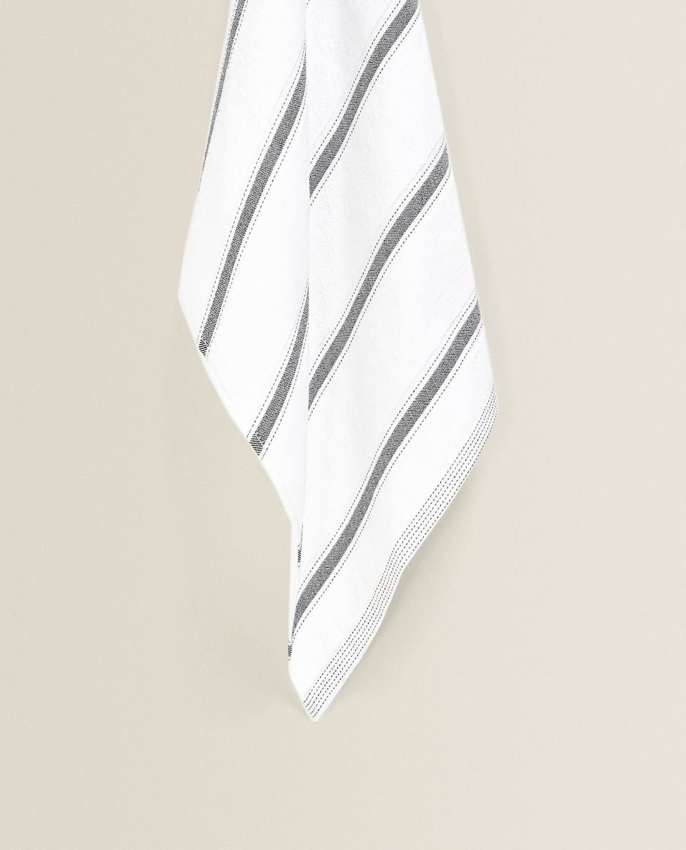 STRIPED COTTON TERRYCLOTH TEA TOWEL