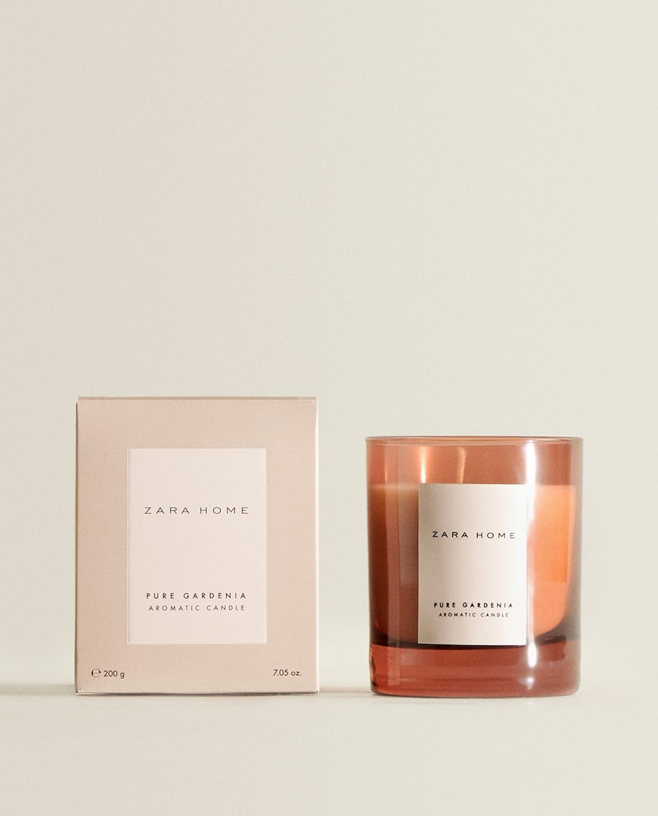 (200 G) PURE GARDENIA SCENTED CANDLE