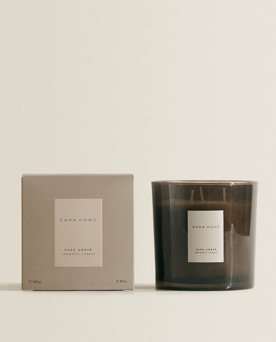 (620 G) DARK AMBER SCENTED CANDLE