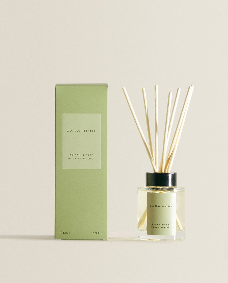 (100 ML) GREEN HERBS REED DIFFUSER