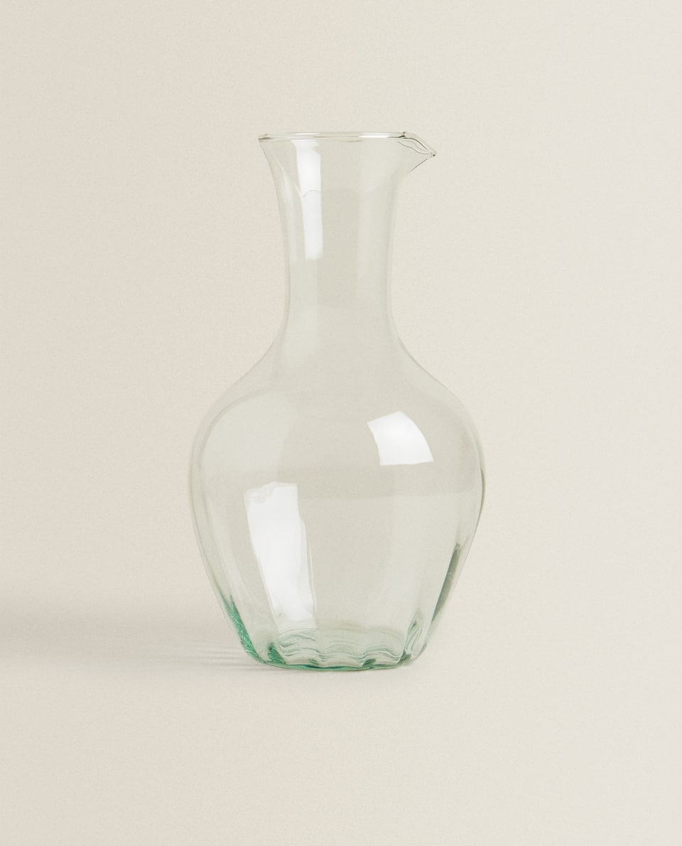 FACETED GLASS DECANTER