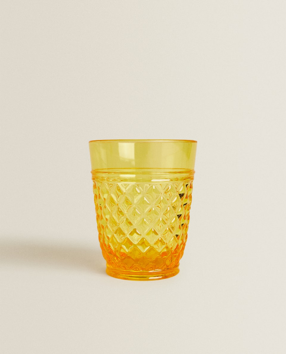 RAISED DESIGN ACRYLIC TUMBLER