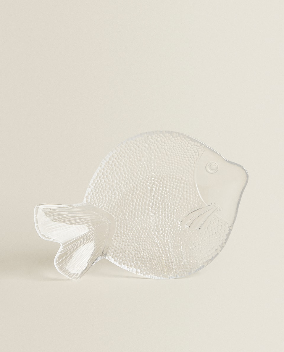 MEDIUM FISH-SHAPED GLASS SERVING DISH