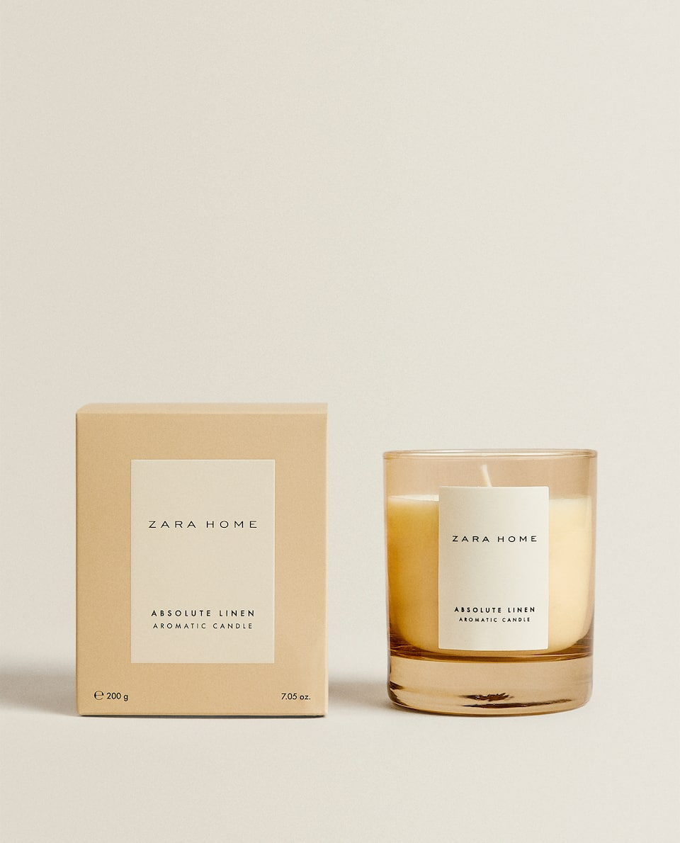 (200 G) ABSOLUTE LINEN SCENTED CANDLE
