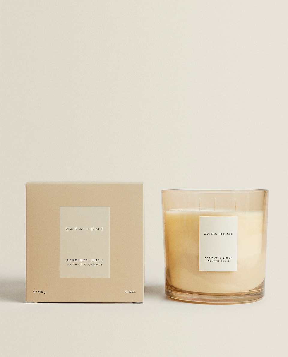(620 G) ABSOLUTE LINEN SCENTED CANDLE