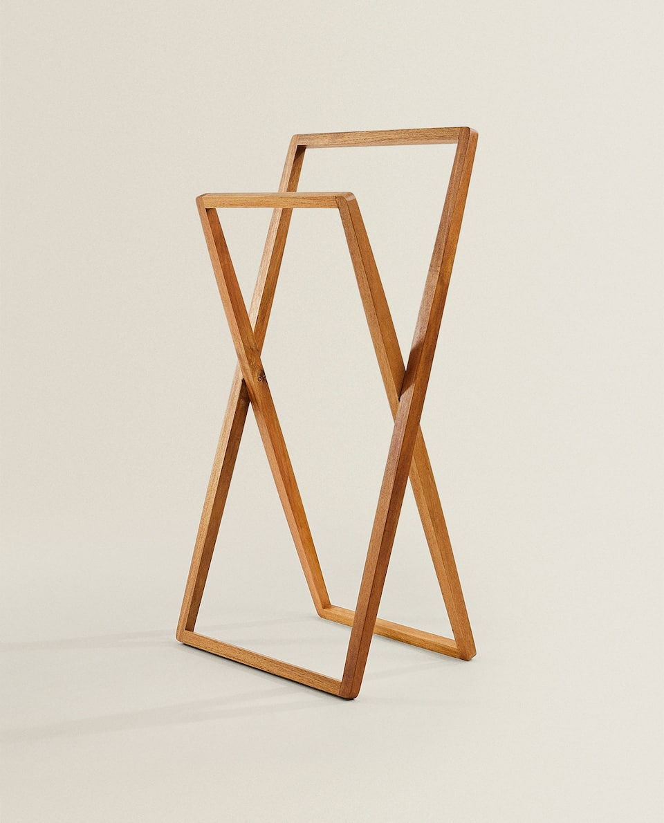 ACACIA WOOD TOWEL RACK