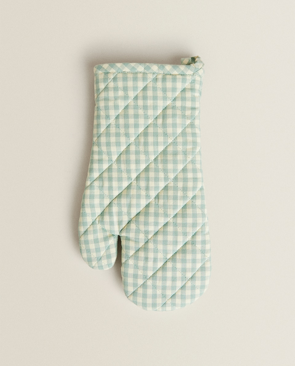 GINGHAM CHECK ADULT OVEN GLOVE