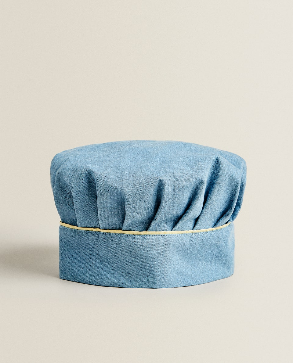 ADULT DENIM CHEF HAT