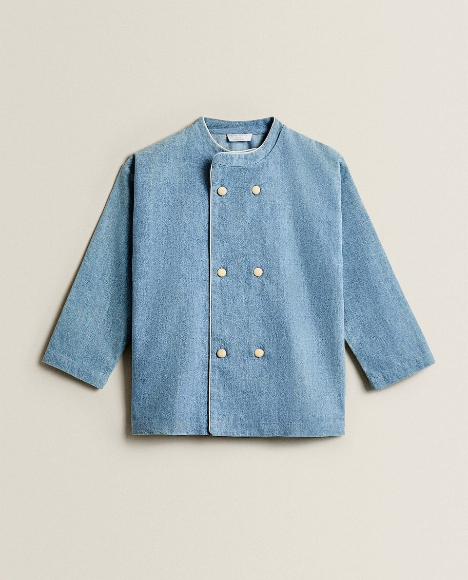 CHILDREN'S DENIM CHEF SHIRT
