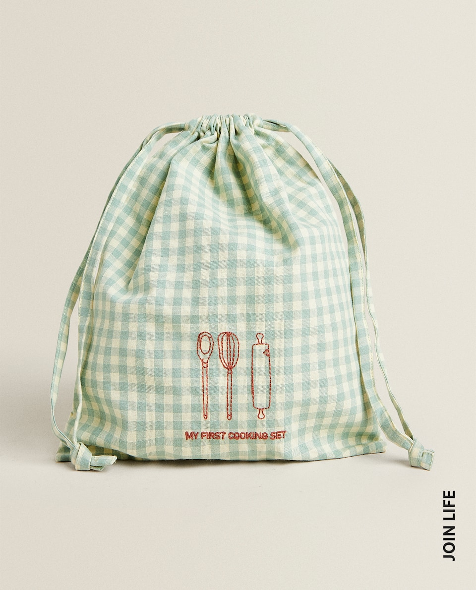 GINGHAM CANVAS BAG