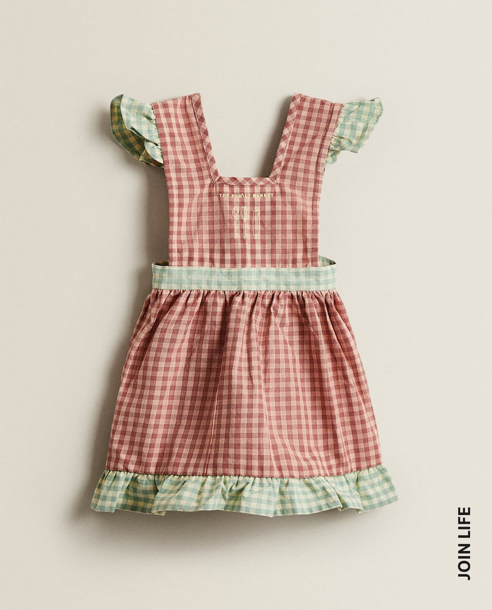 GINGHAM CHILDREN'S APRON