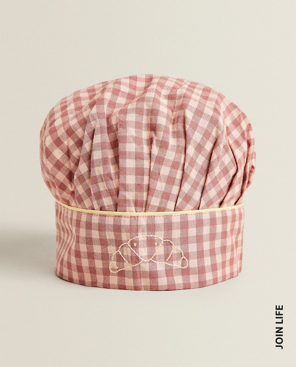 GINGHAM CHECK CHILDREN'S CHEF HAT