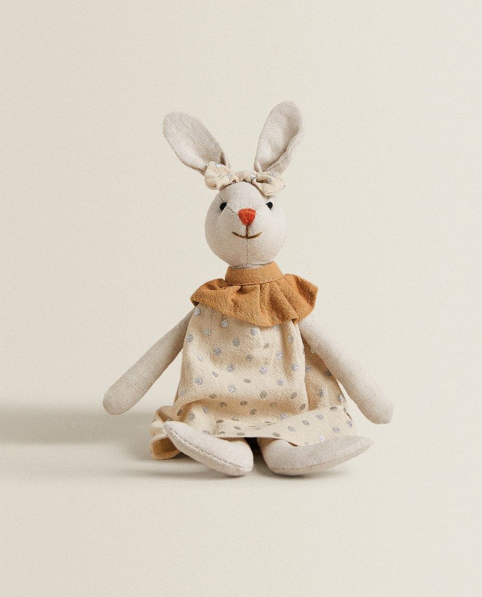 RABBIT SOFT TOY WITH DRESS