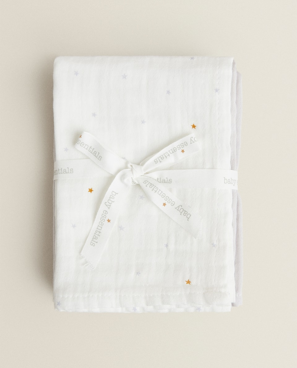 STAR PRINT MUSLIN (PACK OF 3)