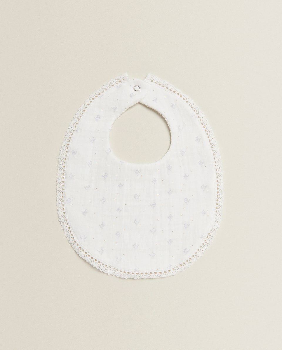 FLORAL COTTON BIB