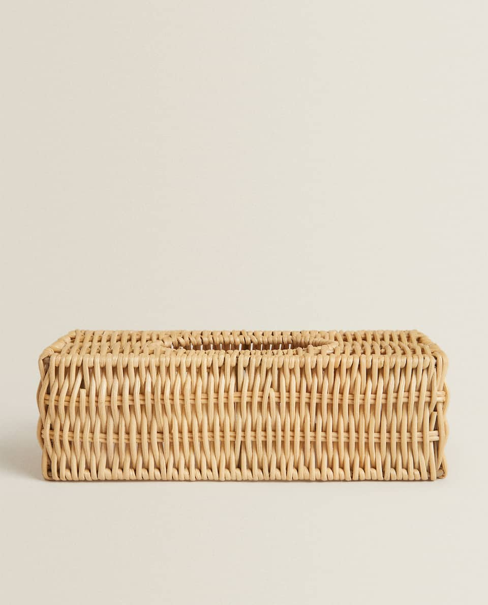 RATTAN BABY WIPES BOX